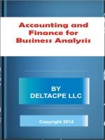 Accounting and Finance for Business Analysis Download free
