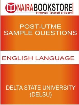DELSU COVER POST UTME ENGLISH