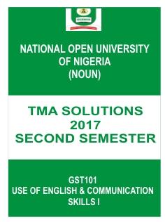 GST101 TMA