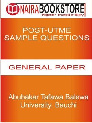 IMAGE TEMPLATE Abubakar Tafawa Balewa University Bauchi