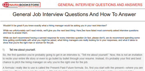 Interview Questions & Answers for Graduate Jobs PDF