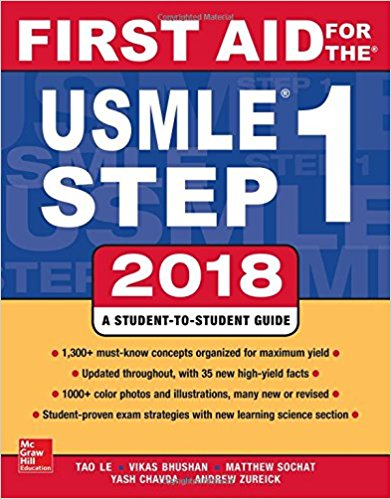 FIRST AID USLME STEP 1 2018 EDITION