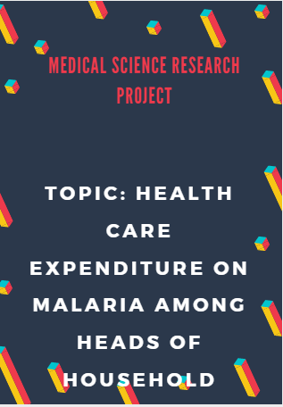 PROJECT RESEARCH TOPIC ON HEALTH CARE EXPENDITURE ON MALARIA AMONG HEADS OF HOUSEHOLD