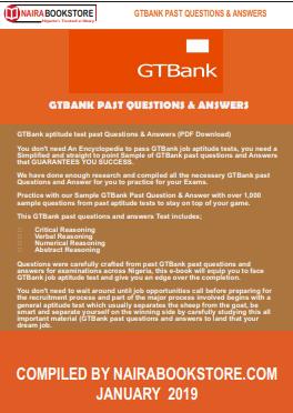 GTBank aptitude test past Questions & Answers (PDF Download)
