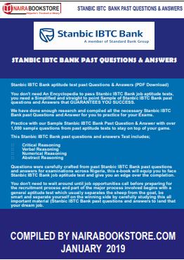 Stanbic IBTC Bank aptitude test