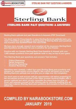 Sterling Bank past questions