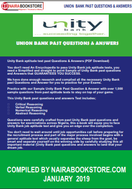 unity bank past questions