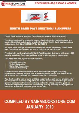 zenith bank past questions