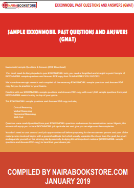 Exxonmobil sample Questions Answers PDF Download
